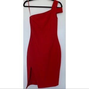 Likely Packard One Shoulder Dress in Red